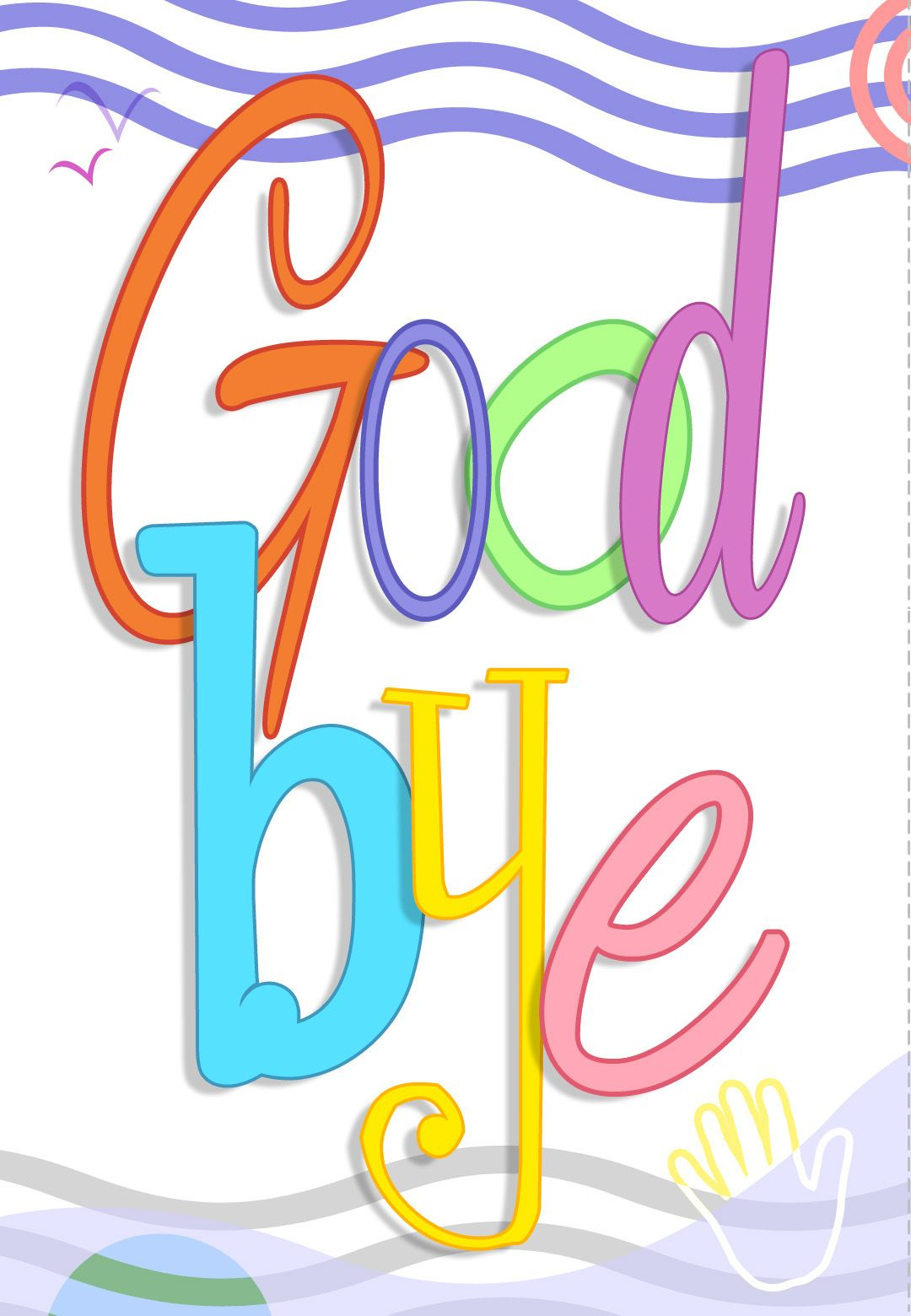 Free Printable Good Bye Greeting Card Greeting Cards For Teachers