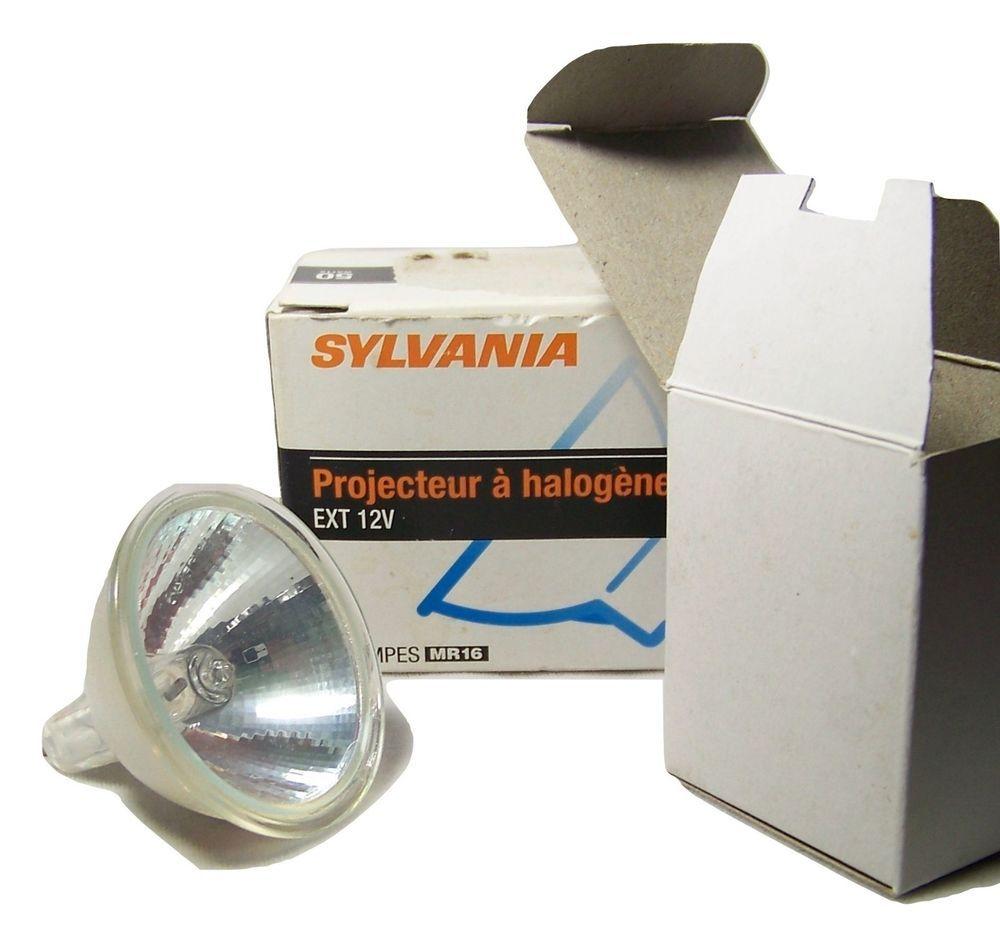 3 Sylvania Halogen Spot Mr16 Bulbs Ext 12v 50 Watts Bi Pin Gu5 3 Base In Box Sylvania Sylvania Bulb Halogen