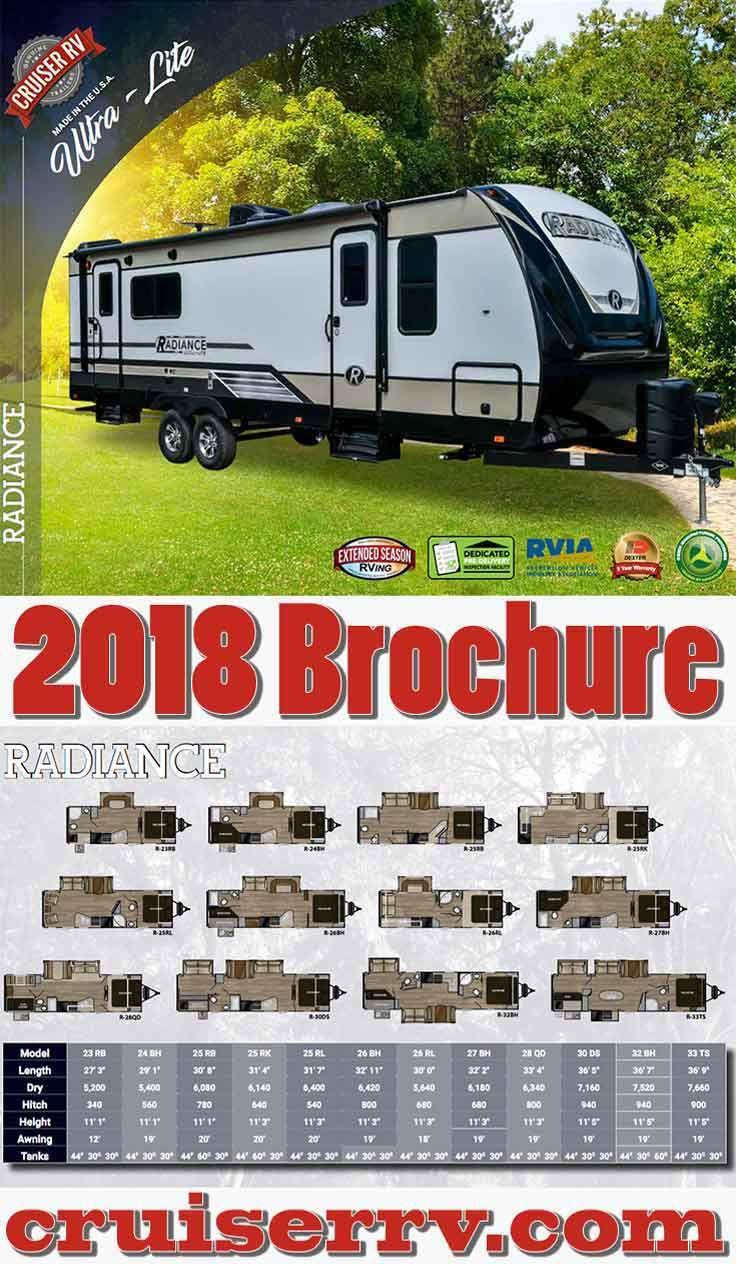 2018 Radiance Ultra Lite Travel Trailer Brochure Cruiser Rv