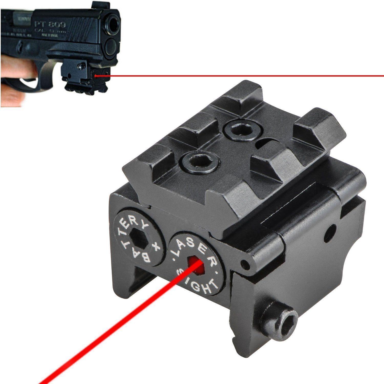 MINI Red Laser Sight Scope Gun Pistol Adjustable Barrel Tube Ring Mount Scope