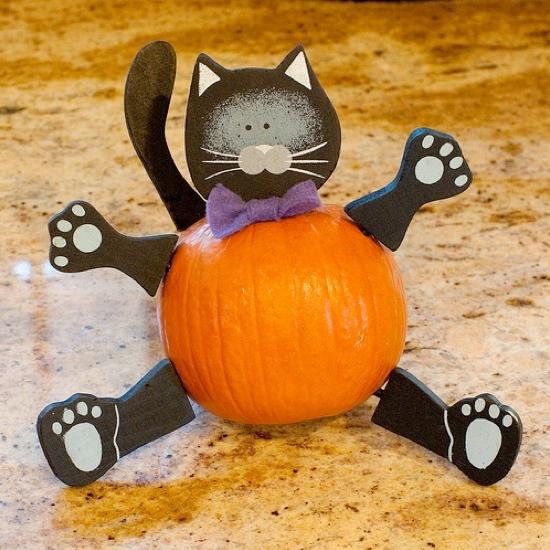 8 Easy Pumpkin Ideas Without Carving en 2020 Décoration