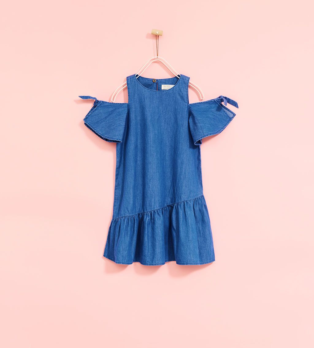 673cc146b5 DRESS WITH SHOULDER BOWS | Girls ideas | Dresses kids girl, Winter ...
