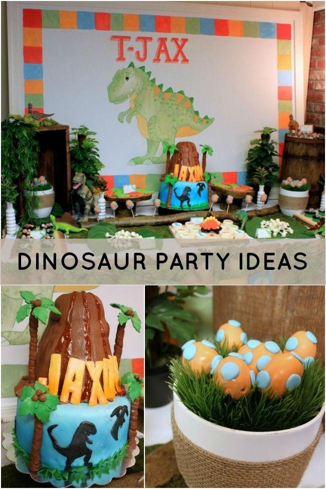 Dinosaur Themed 2nd Birthday Party Dinosaur birthday party
