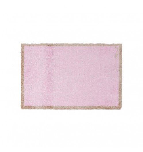 Un tapis rose tout doux avec une semelle anti-dérapante pour toutes les pièces de la maison.