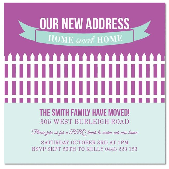 Housewarming invitations from only 100 each Personalise and order