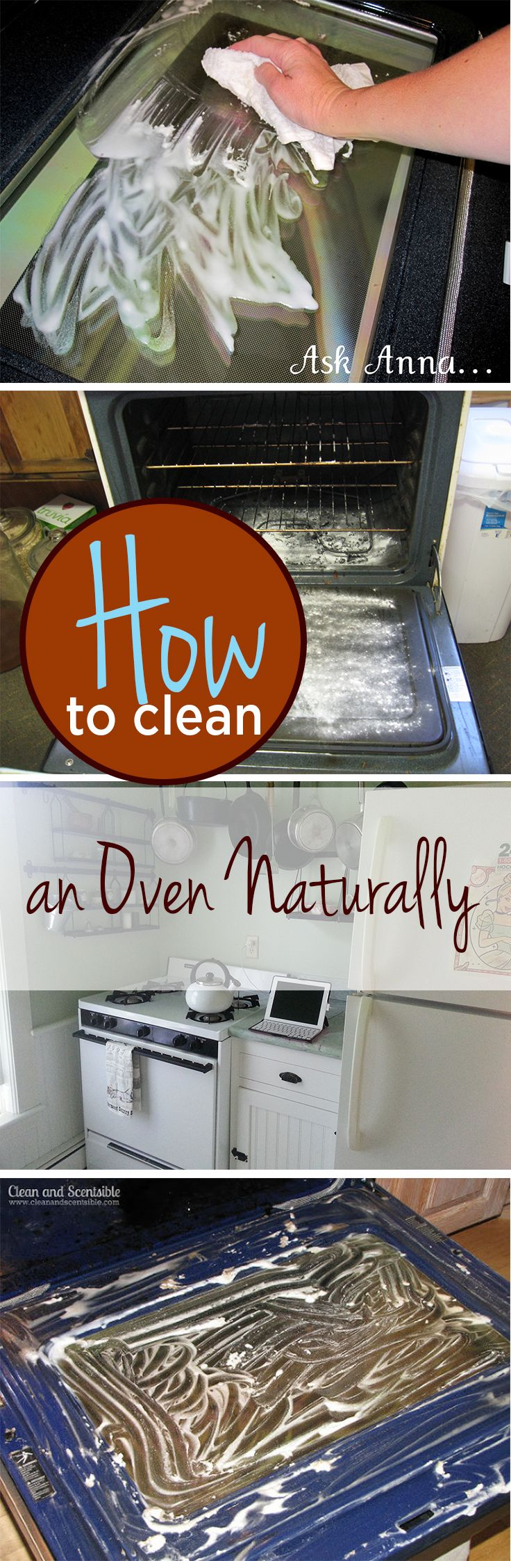 how to clean oven naturally way