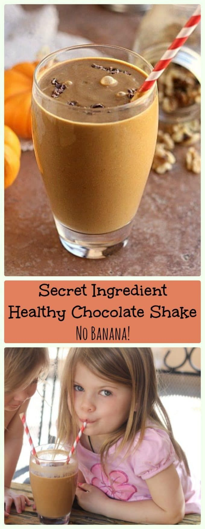 Secret Ingredient Healthy Chocolate Shake (Vegan, Paleo) #healthychocolateshakes