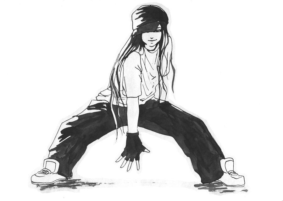 Hip Hop Girl By Preih Deviantart Com On Deviantart Vintage Black