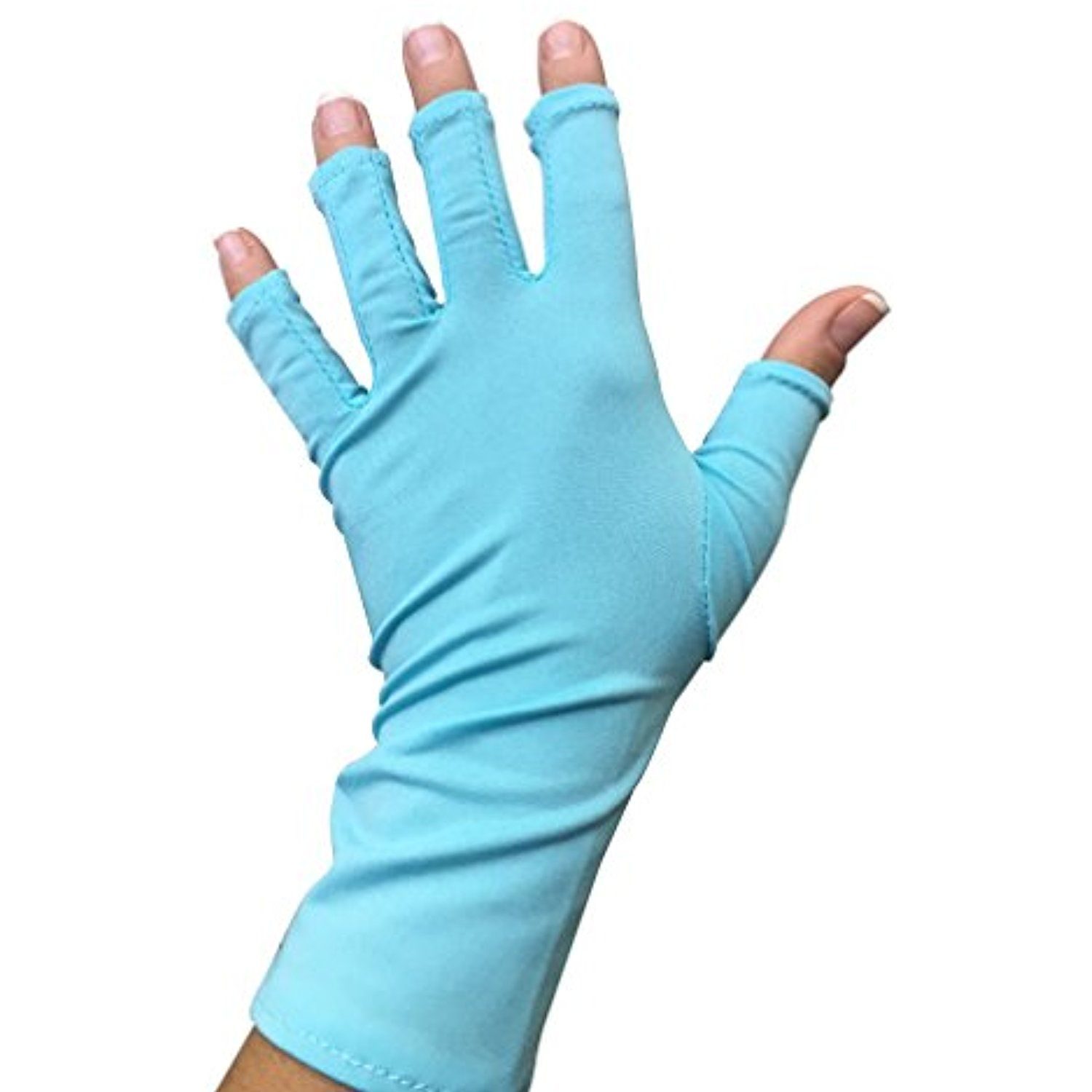 UV Gloves, Fingerless Protection for Nails Gel Manicure, Ultra ...