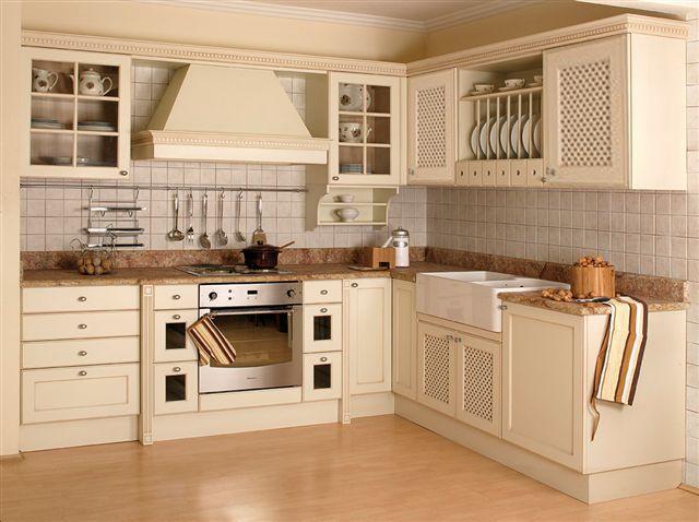 Meble Kuchenne Z Frontami Z Kratki Drewnianej Kitchen Kitchen Cabinets Lattice