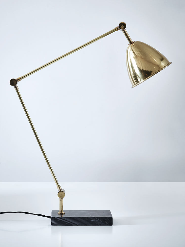 Make A Statement Out Of Your Lighting With Our Handsome Br And Marble Desk Lamp Each Elegant Sits On Weighty Rectangular Black Base