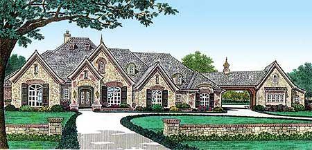 Plan 48431FM: Grand European Manor Home | North carolina, Bonus ...