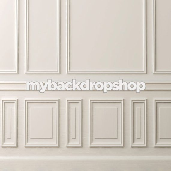 Chair Rail Vinyl Part - 49: X Fancy White Wall Photography Backdrop U2013 Wall Panels Chair Rail And  Baseboard Photography Backdrop - Vinyl - Item 1846