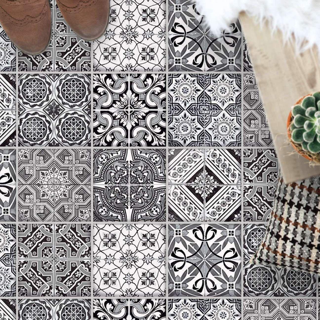 Fliesenaufkleber Boden Fur Kuche Bad Design Black N White Fliesenaufkleber Boden Fliesenaufkleber Klebefliesen