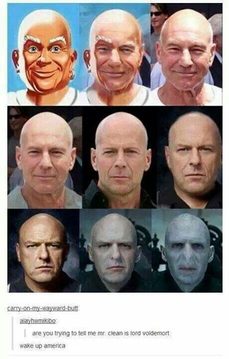 Mr. Clean is Voldemort