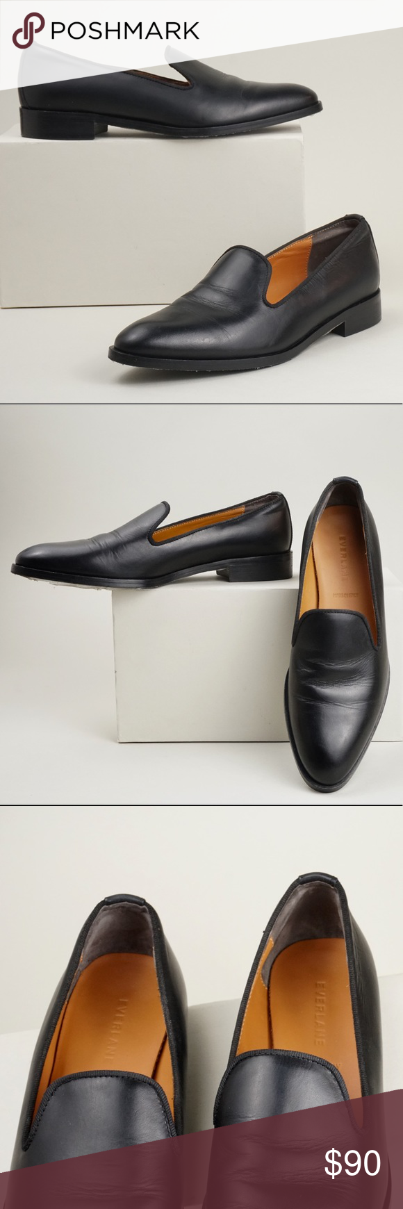 21d6d18dd96 Everlane Black the modern smoking loafer They are in excellent condition