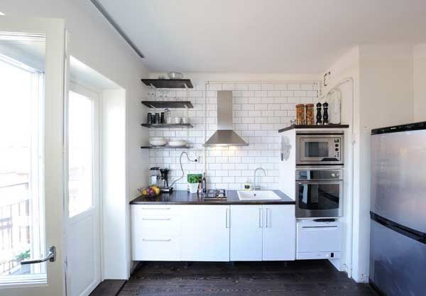 20 Spacious Small Kitchen Ideas | Apartment kitchen, Small ...