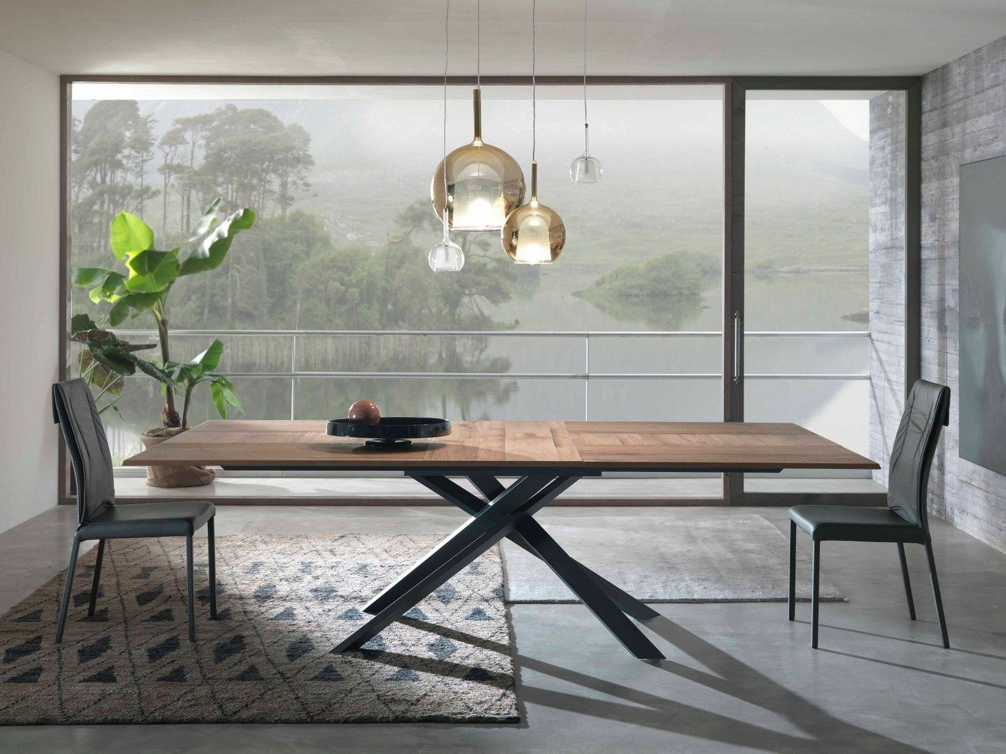 Tavolo Ozzio ~ Extending rectangular wooden table by ozzio italia design
