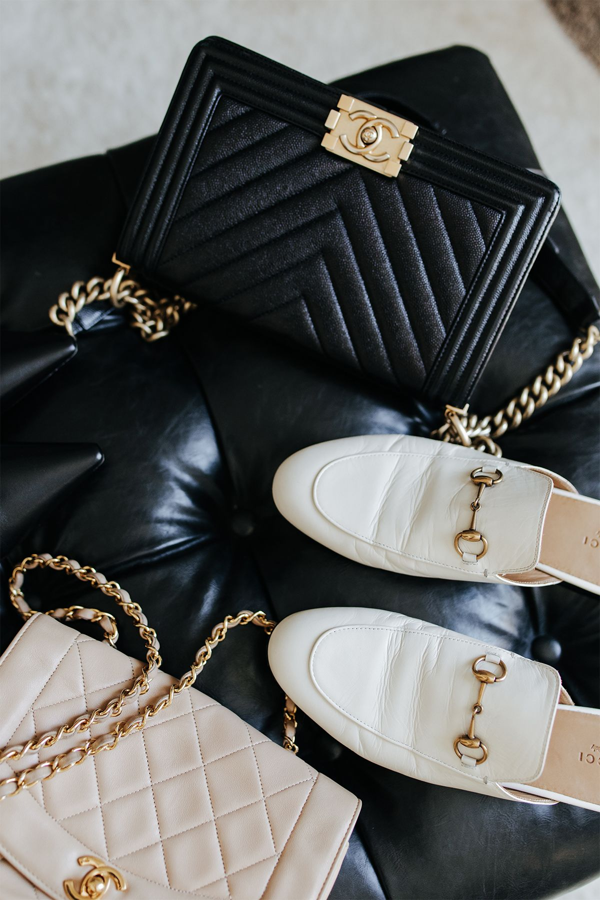 How To Shop For Discounted Designer Items On Ebay Chanel Handbag Boy Chanel Boy Bag Outfit Chanel Handbags Collection