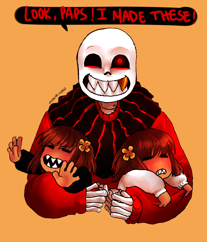 Aww, Underfell pacifist route with babies!   UNDERTALE/DeltaRune