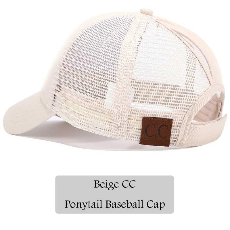 CC Glitter Ponytail Baseball Women Snapback Hat Summer Messy Bun Mesh Hats  Casual Adjustable Sport Caps 87964c1af06f