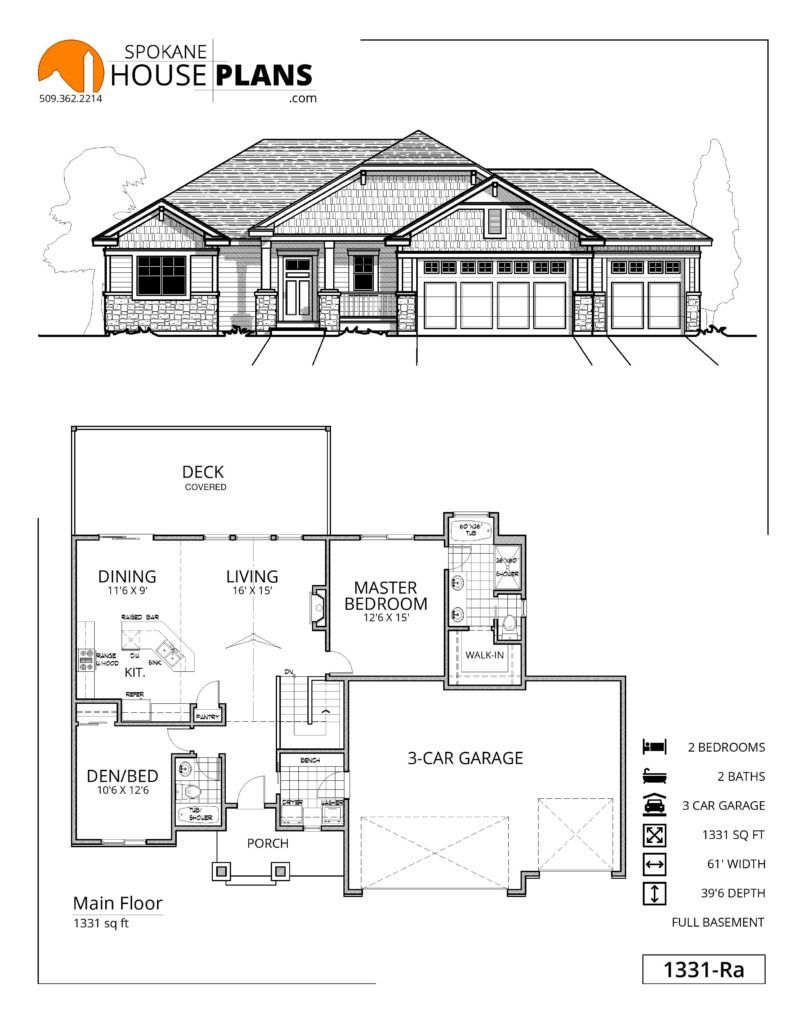 1331 Ra Empty Nester House Plans House Plans Best Home Plans