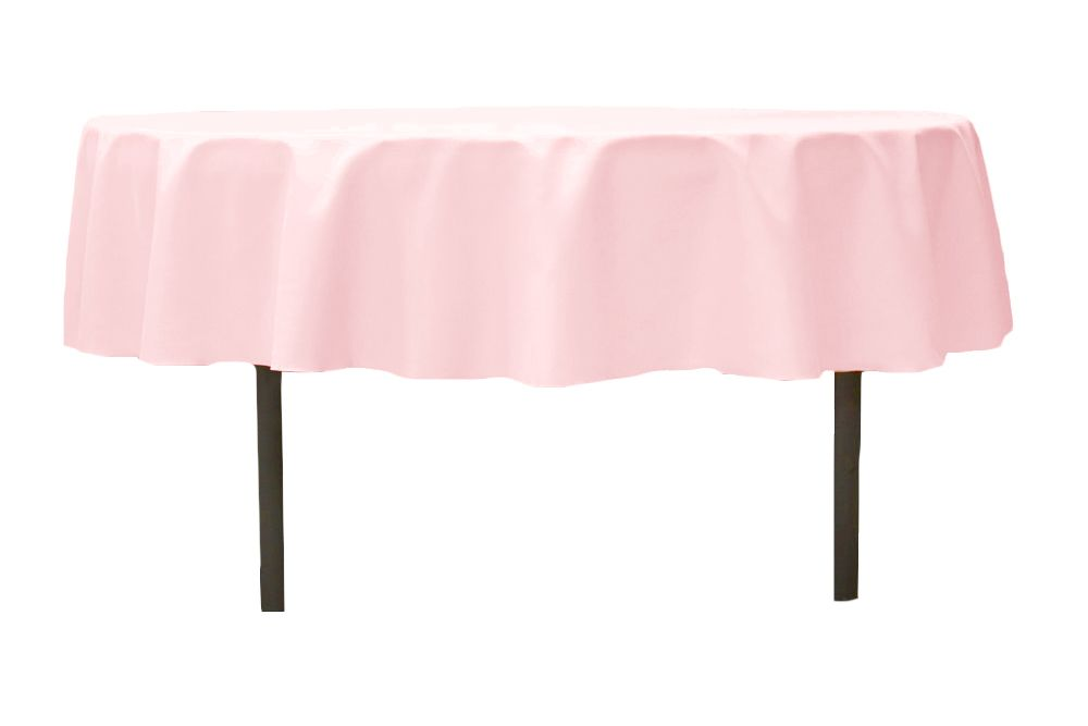 Polyester 90 Round Tablecloth Pastel Pink 90 Round