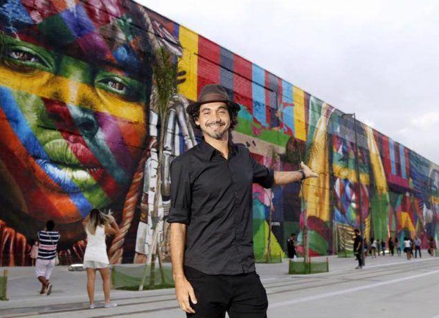 73db2ccc5776e Mural incrível do artista Eduardo Kobra no RIO 2016