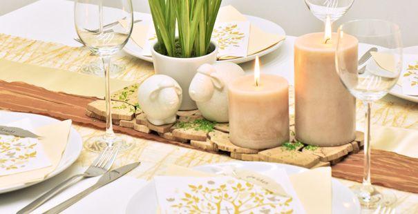 Moderne Tischdeko Im Naturlichen Stil Zu Kommunion Und Konfirmation