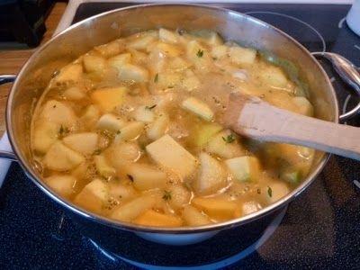 A lovely batch of Butternut Soup. My favorite autumn food.
