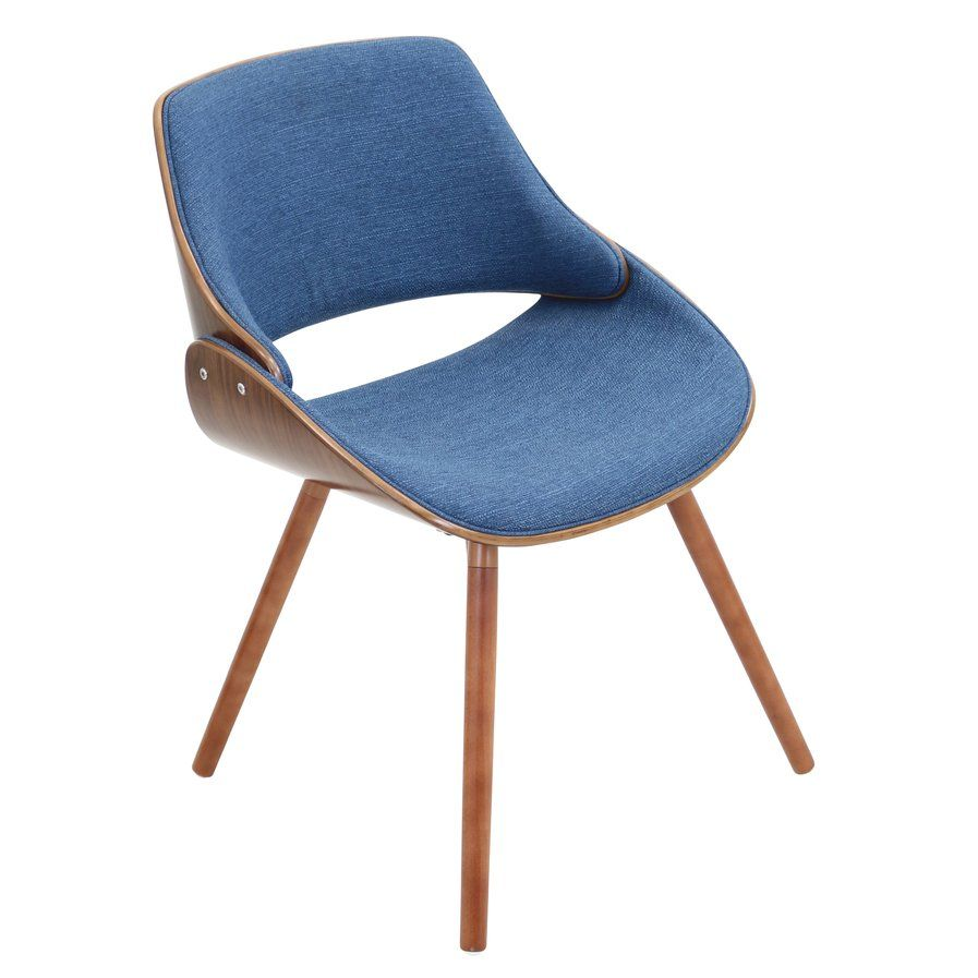 An Effortless Blend Of Rustic Charm And Bold Midcentury Modern Flair, This  Eye Catching Side Chair Features A Warm Walnut Finish, Curved Design, ...