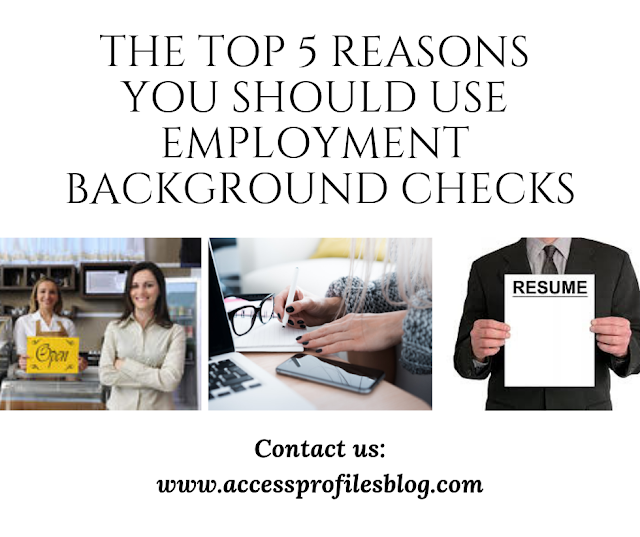 The Top 5 Reasons You Should Use Employment Background