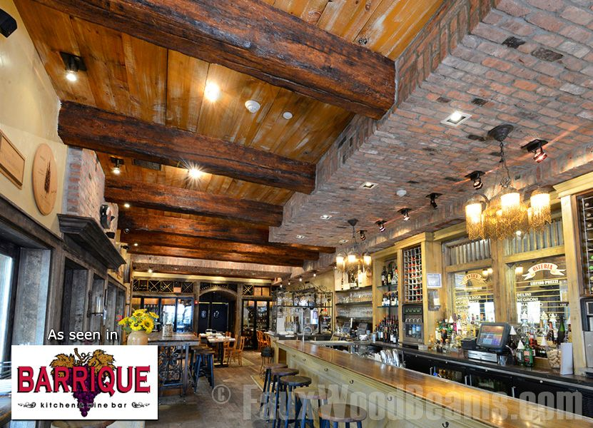 Timber faux wood beams create an old world atmosphere in Barrique ...