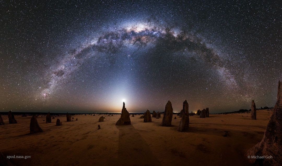 Milky Way over the Pinnacles Australia