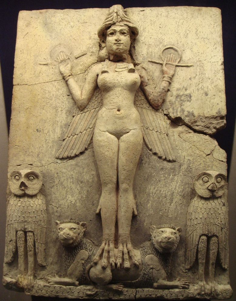 The Burney Relief, Old Babylonian, around 1800 BC