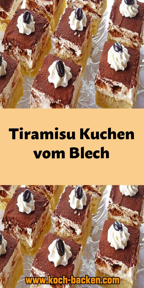 Tiramisu Kuchen vom Blech