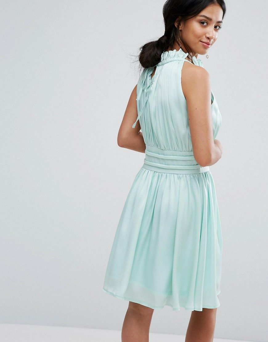 Little Mistress Petite Ruched Pleated Mini Prom Skater Dress ...