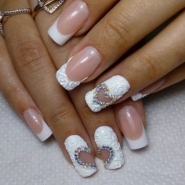 Pin by nailscafe on i nails pinterest crazy nails and makeup art club wedding nails art bridal nails nail art designs cris nail ideas nail french french manicure nails manicures prinsesfo Image collections
