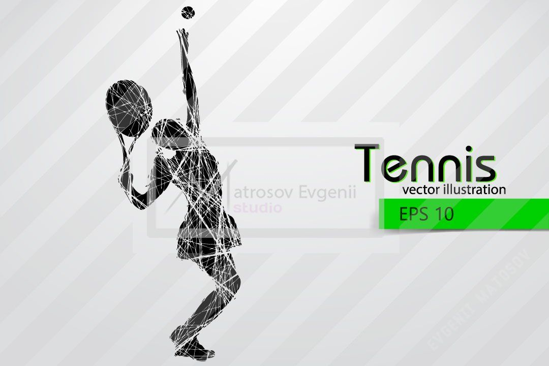 Silhouettes Of A Tennis Player Set Tennis Players Silhouette Players