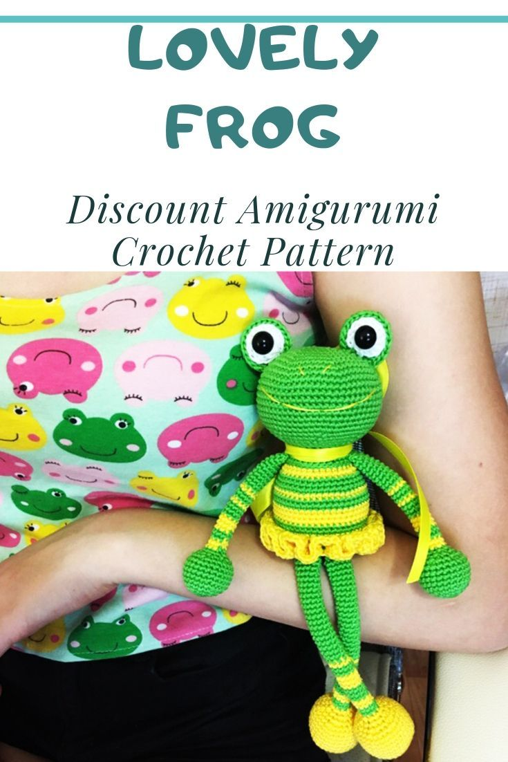 Lovely Frog in a Skirt Amigurumi Crochet Pattern