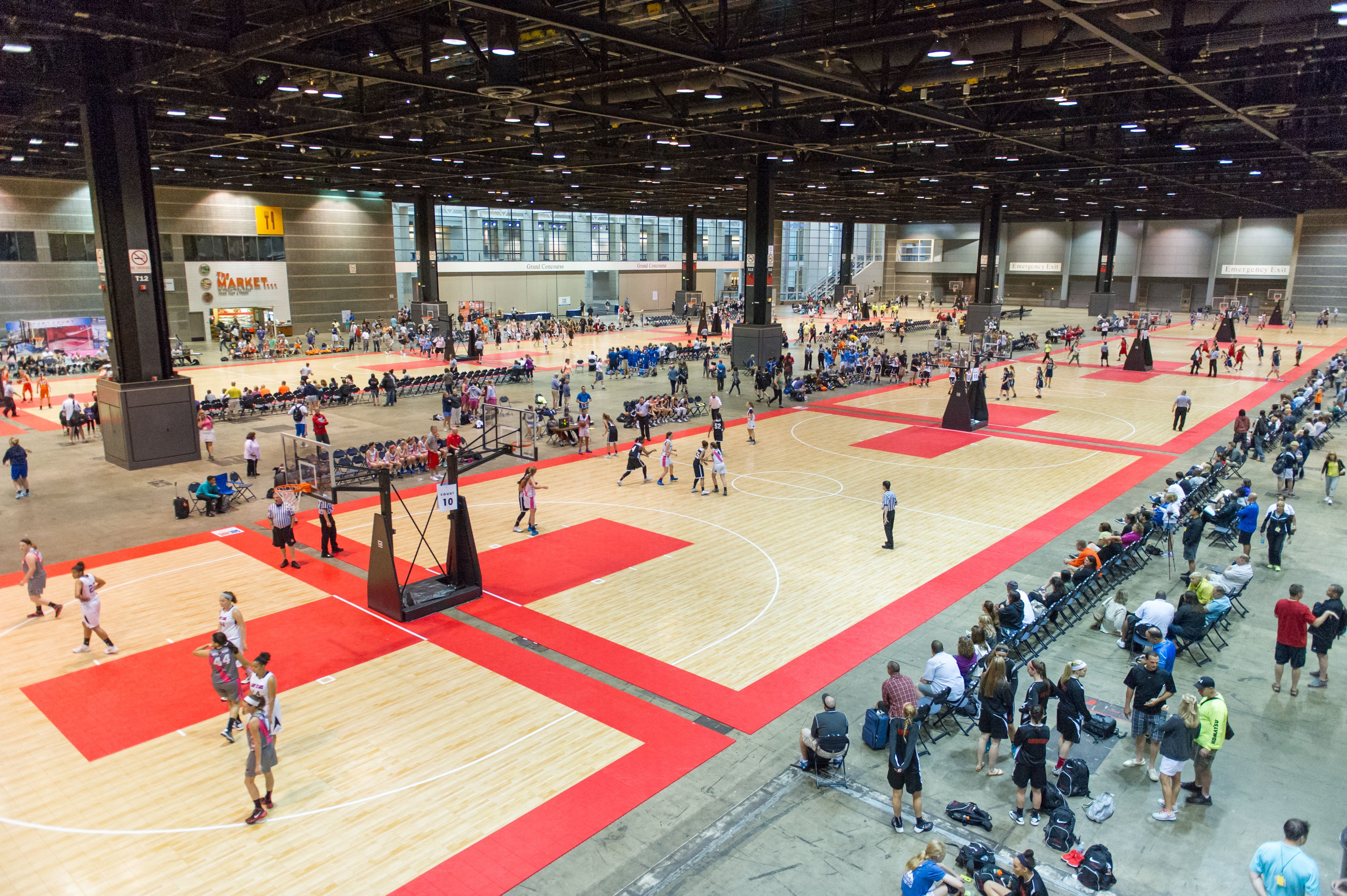 Sport Court To Provide 38 Maple Select Courts For The 17th Annual Nike Tournament Of Champions Home Basketball Court Sports Court Flooring Sports