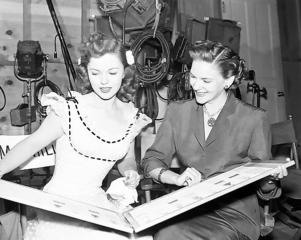 Shirley Temple Behind The Scenes Of A Kiss For Corliss 1949