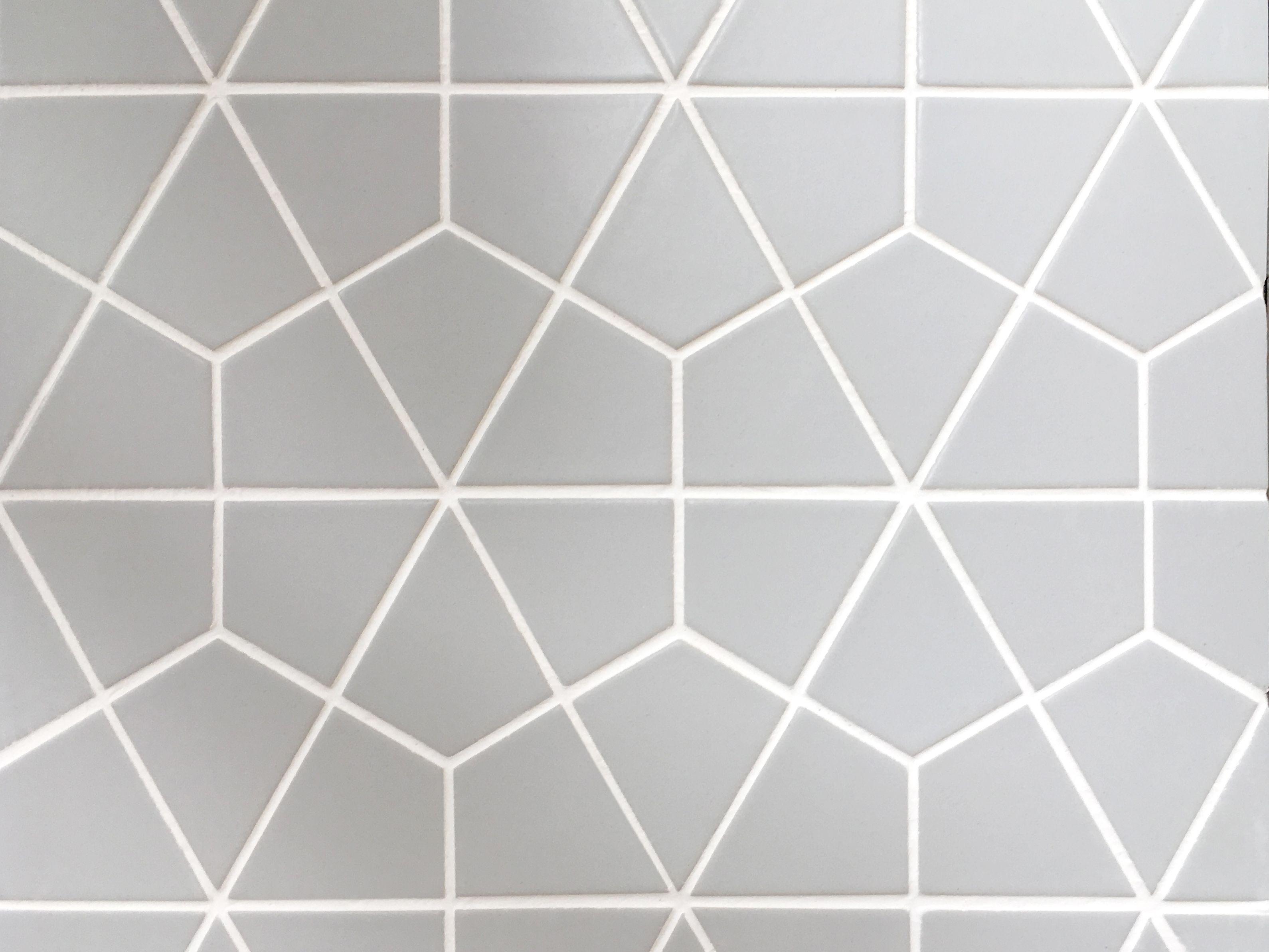 Credence En Gres Cerame carreaux tomettes hexagonales en 6 modules décalés x