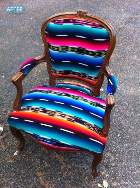 Mexican Sarape Chair. ♥