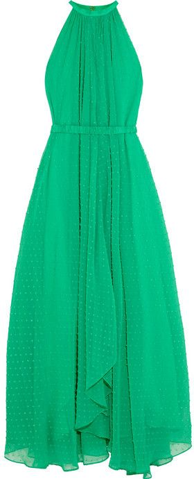 .Saloni Irina Swiss-dot chiffon maxi dress