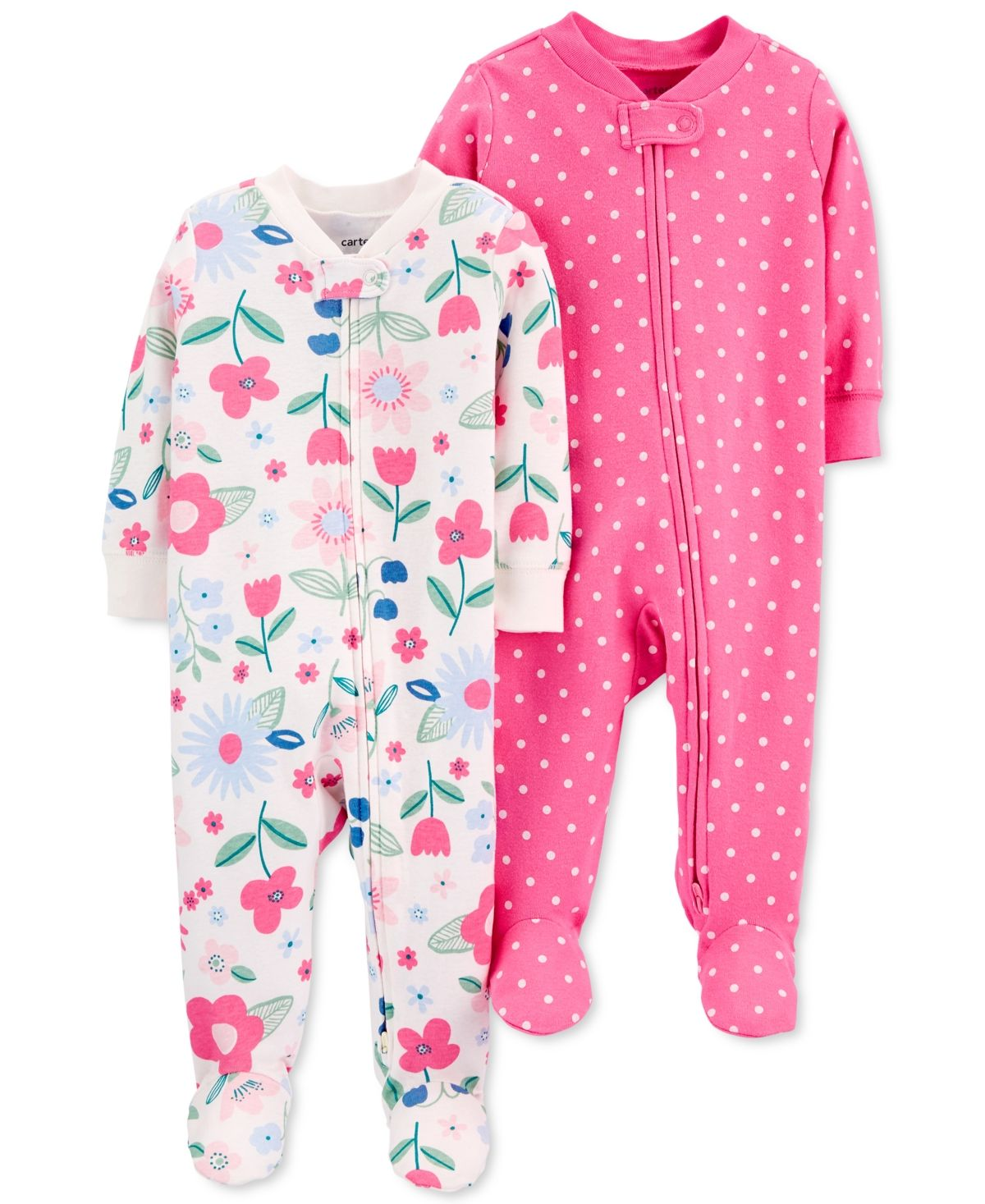 Footed Cotton Coveralls Carters Baby Boys /& Girls 2-Pk