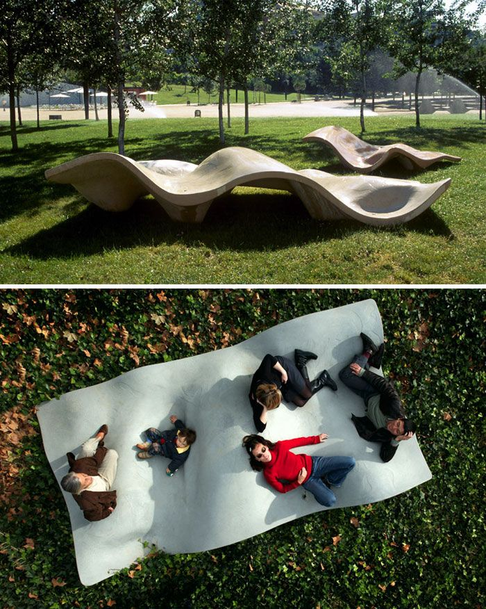50 Of The Most Creative Benches And Seats Ever Parking Design Public Space Design Landscape Architecture Design