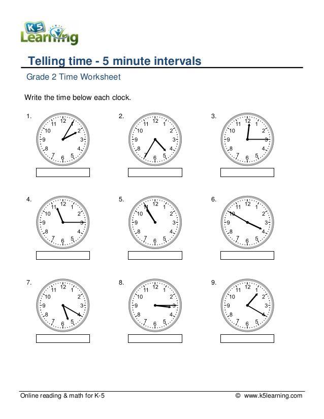 grade-2tellingtime5minuteintervalsa-1-638.jpg (638×826) | School ...