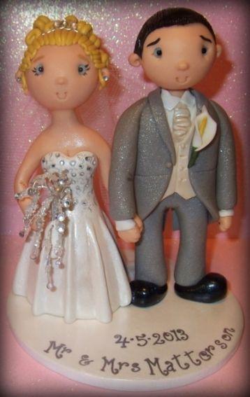 Bride & Groom Personalised Wedding Cake Toppers.
