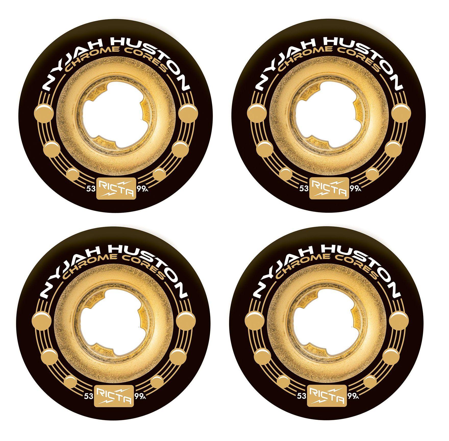 Ricta Nyjah Huston Chrome Core Skateboard Wheels | 53mm 99A